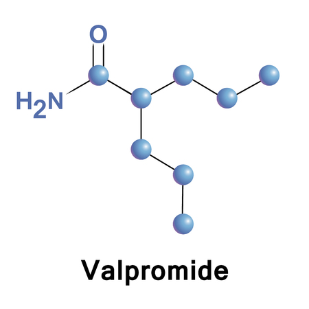 Valpromide is a carboxamide derivative of valproic acid used in the treatment of epilepsy and some affective disorders.