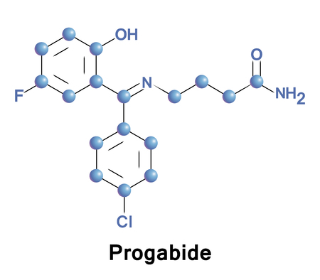 Progabide is an analogue and prodrug of g aminobutyric acid used in the treatment of epilepsy. Via conversion into GABA, progabide behaves as an agonist of the GABAA, GABAB, and GABAA r receptors.