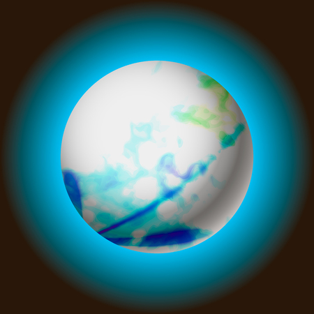 abstract planet with glowing, vector illustration eps 10