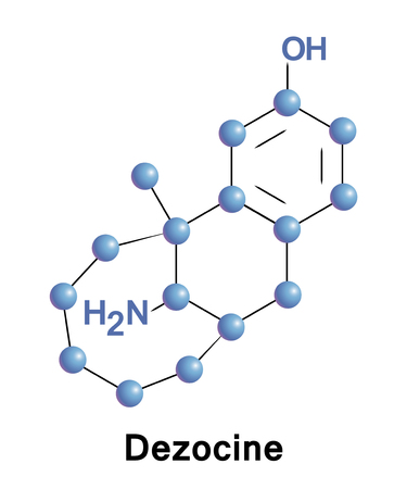 biochemical: Dezocine is a marketed opioid analgesic of the benzomorphan group Stock Photo