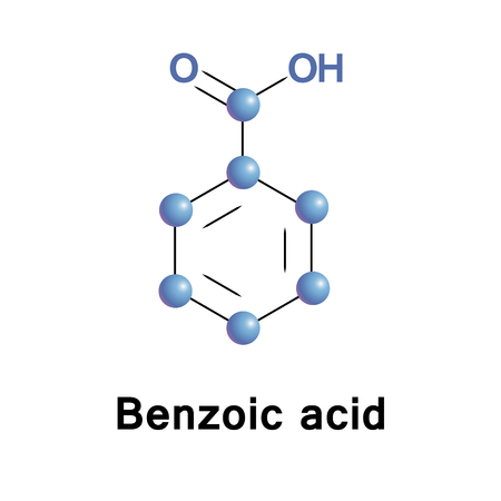 benzoic: Benzoic acid is colorless crystalline solid and aromatic carboxylic acid. The name is derived from gum benzoin. Benzoic acid occurs naturally in many plants Stock Photo
