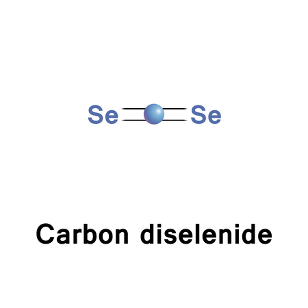 insoluble: Carbon diselenide is an inorganic compound with the chemical formula CSe2. This light-sensitive compound is insoluble in water and soluble in organic solvents Stock Photo