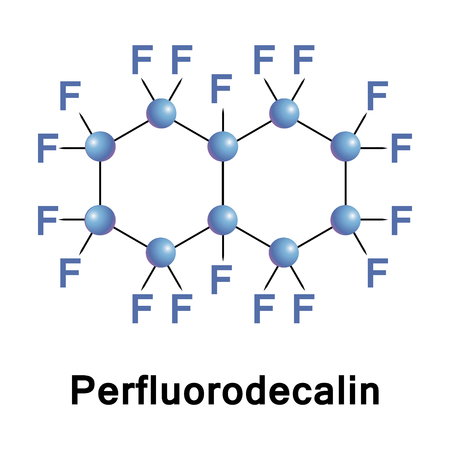 chemically: Perfluorodecalin is a fluorocarbon, a derivative of decalin in which all of the hydrogen atoms are replaced by fluorine atoms. It is chemically and biologically inert and stable up to 400 C.