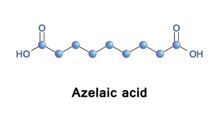 Azelaic acid is organic compound. It is found in wheat, rye, and barley. It is precursor to diverse industrial products including polymers, plasticizers, and component of hair and skin conditioners Illustration
