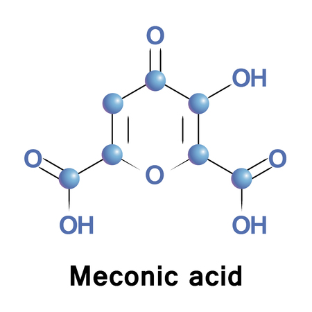 Meconic acid, or acidum meconicum and poppy acid, is a chemical substance found in certain plants of the Papaveraceae family as Papaver somniferum, opium poppy, and Papaver bracteatum.
