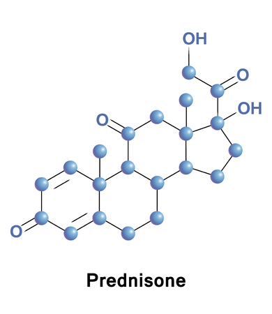 immunosuppressant: Prednisone is a synthetic corticosteroid drug that is particularly effective as an immunosuppressant drug for moderate allergic reactions, some autoimmune diseases, and some types of cancer Stock Photo