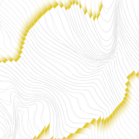 warped lined white and gold, vector background Stock Photo