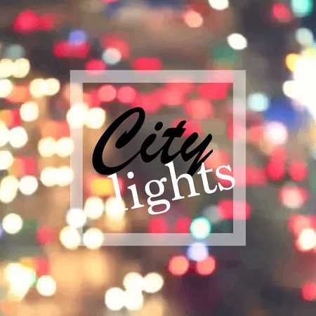 A city lights at night, blurred vector background.