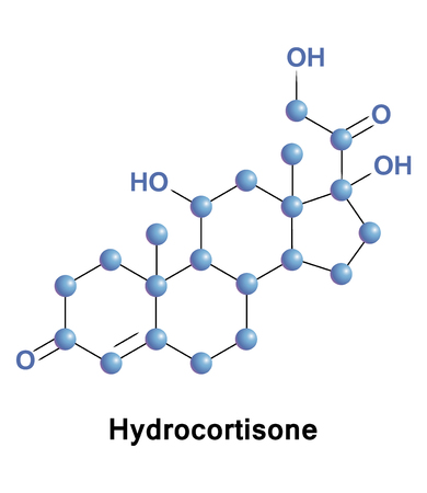 Hydrocortisone is hormone cortisol as a medication. Uses includes conditions such as adrenocortical insufficiency, adrenogenital syndrome, rheumatoid arthritis, dermatitis, asthma, and COPD Stock Photo