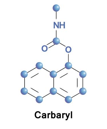 Carbaryl ist eine Chemikalie in der Carbamatfamilie, die hauptsächlich als Insektizid verwendet wird Standard-Bild