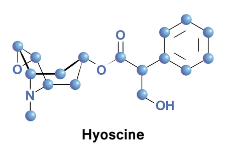 Hyoscine, also known as scopolamine, is a medication used to treat motion sickness and postoperative nausea and vomiting