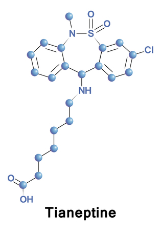 Tianeptine is a drug used primarily in the treatment of major depressive disorder, although it may also be used to treat asthma or irritable bowel syndrome.
