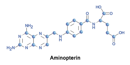 teratogenic: Aminopterin,  the 4-amino derivative of folic acid, is an antineoplastic drug with immunosuppressive properties often used in chemotherapy