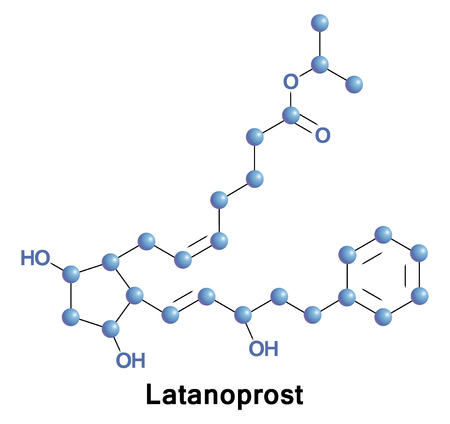 Latanoprost is a medication used to treat increased pressure inside the eye. This includes ocular hypertension and open angle glaucoma.