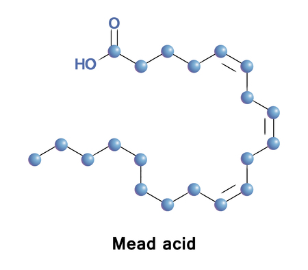 lipid: Mead acid is an omega-9 fatty acid. Its elevated presence in the blood is an indication of essential fatty acid deficiency