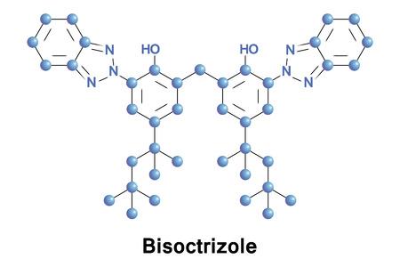 hidrógeno: El bisoctrizole es un compuesto orgánico a base de benzotriazol que se añade a los filtros solares para absorber los rayos UV
