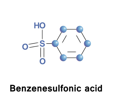 Benzenesulfonic acid is an organosulfur compound with formula C6H5SO3H. It is the simplest aromatic sulfonic acid. Pharmaceutical drugs are prepared of its salts are besilates or besylates