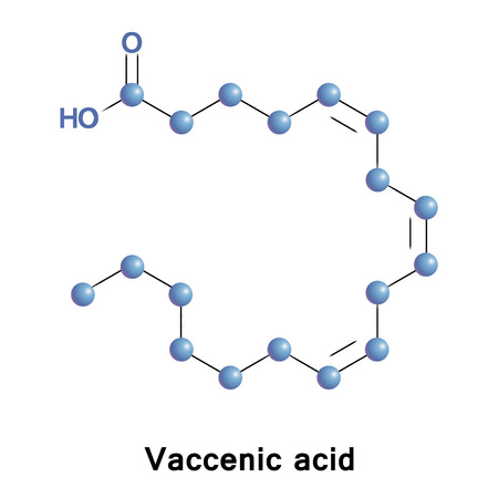lipid a: Vaccenic acid, also known as octadecenoic acid is a naturally occurring trans-fatty acid found in the fat of ruminants and in dairy products such as milk, butter, and yogurt.