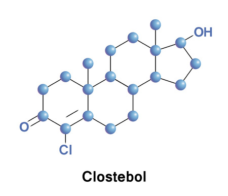 aas: Clostebol, also known as 4-chlorotestosterone, usually as the ester clostebol acetate, is a synthetic anabolic androgenic steroid.
