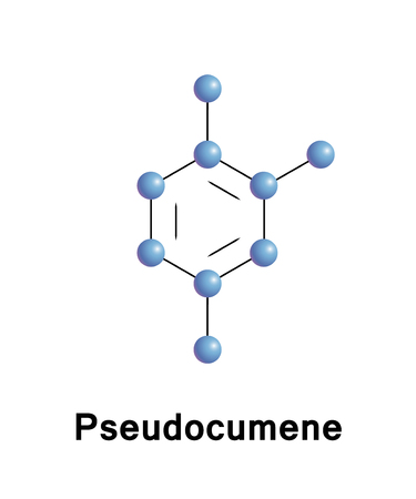 Trimethylbenzene, also known as pseudocumene, is an organic compound classified as an aromatic hydrocarbon. Illustration
