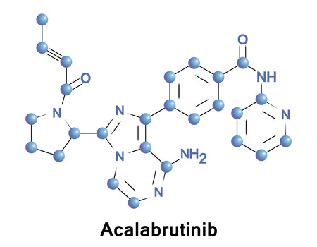 Acalabrutinib is a novel experimental anti-cancer drug and a 2nd generation Bruton tyrosine kinase inhibitor. Illustration
