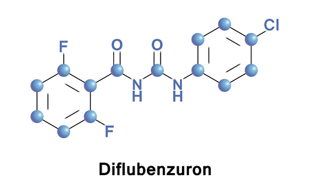 boll: Diflubenzuron is an insecticide of the benzoylurea class. Illustration