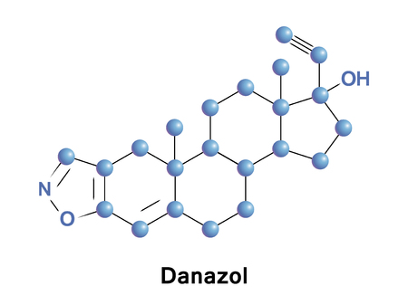 Danazol is a synthetic steroid that is used primarily in the treatment of endometriosis Stock Photo