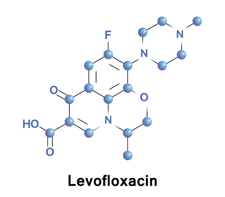 Levofloxacin is an antibiotic. It is used to treat bacterial infections including acute bacterial sinusitis, pneumonia, urinary tract infections, chronic prostatitis, and some types of gastroenteritis Stock Photo