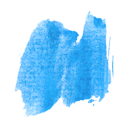 Wet blue water color splash
