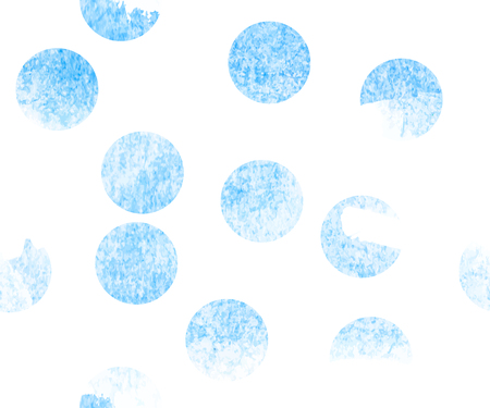 blue watercolor seamless circles, hand drawn vector background illustration