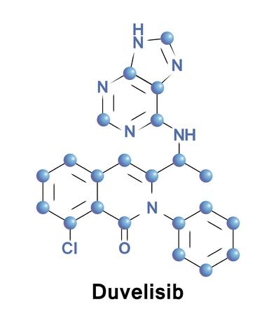 Duvelisib is an inhibitor of PI3K delta and PI3K gamma. Illustration