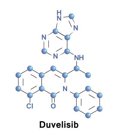 Duvelisib is an inhibitor of PI3K delta and PI3K gamma, researched as a treatment for hematologic malignancies as well as a broad range of inflammatory conditions