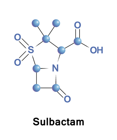 Sulbactam is a beta-lactamase inhibitor. This drug is given in combination with b-lactam antibiotics to inhibit b-lactamase, an enzyme produced by bacteria that destroys the antibiotics