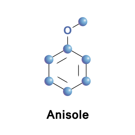 Anisole, or methoxybenzene, is an organic compound with the formula CH3OC6H5. Illustration