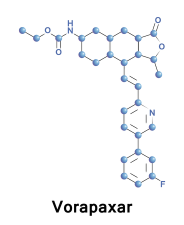 Vorapaxar is a thrombin receptor antagonist based on the natural product himbacine Banco de Imagens