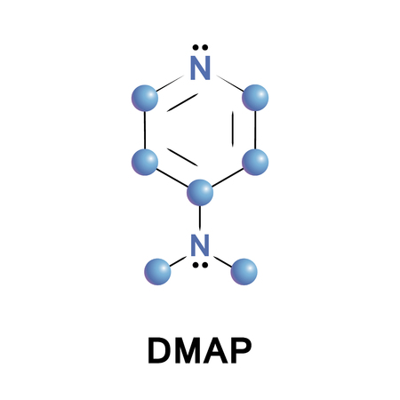 4Dimethylaminopyridine DMAP is a derivative of pyridine. This colourless solid is of interest because it is more basic than pyridine Stock Vector - 91247723