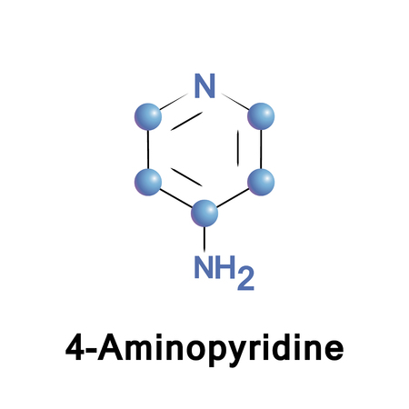 4 Aminopyridine is an organic compound with the chemical formula C5H4N NH2. The molecule is one of the three isomeric amines of pyridine Stock Photo