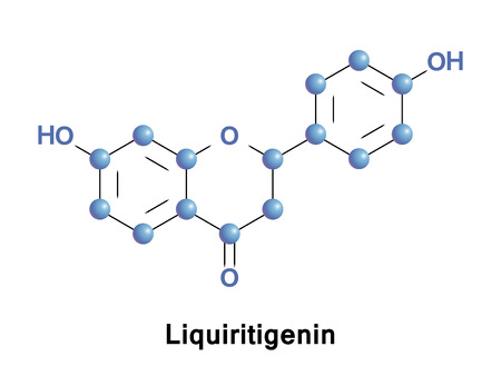 Liquiritigenin is a flavanone that was isolated from Glycyrrhiza uralensis, and is found in a variety of plants, including Glycyrrhiza glabra