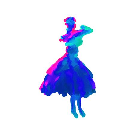 Digital artistic figure of a woman Illustration