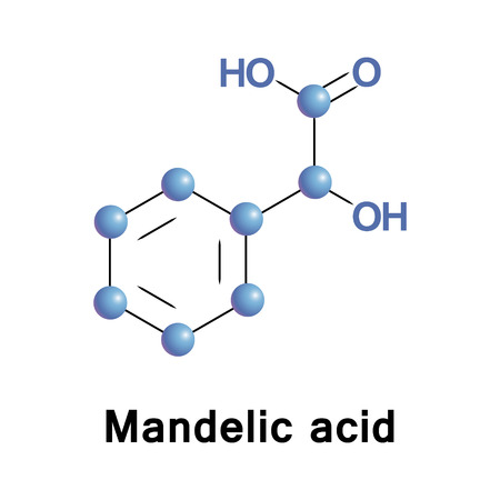 Mandelic acid is an aromatic alpha hydroxy acid. It is a useful precursor for drugs