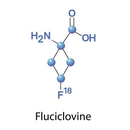 Fluciclovine is a diagnostic agent for prostate cancer Ilustración de vector