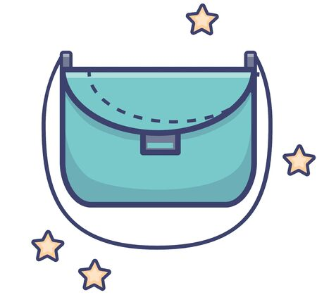 Womens handbag on a belt. Vector illustration