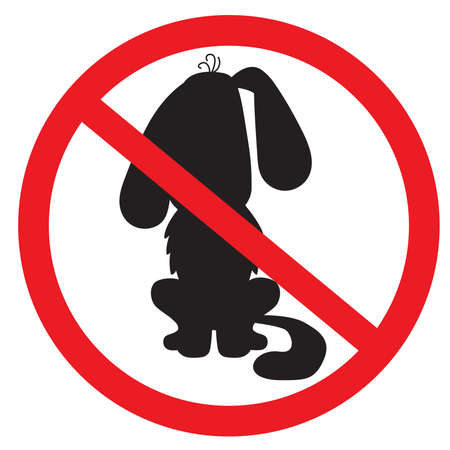 No Dog . prohibition sign. Black silhouetted image. Vector Vektoros illusztráció