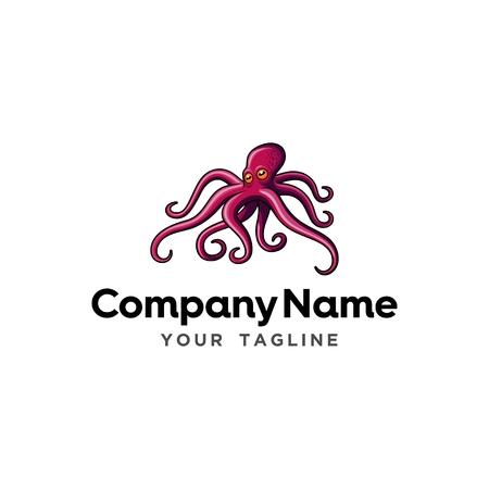 Squid Seafood Restaurant Logo Template