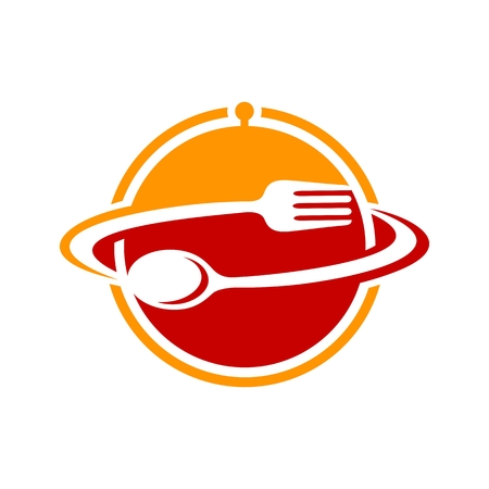 Online Restaurant Spoon and Fork Simple Icon