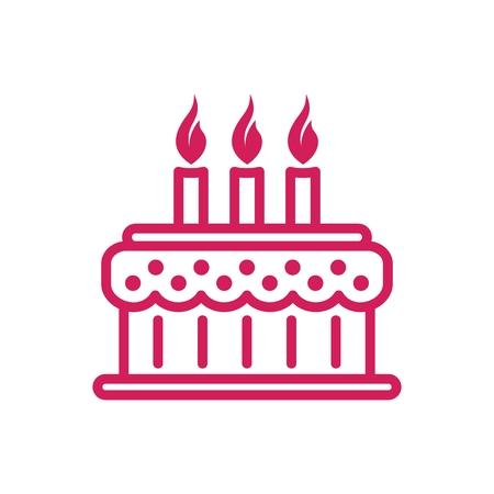 Tart Cake Simple Line icon 일러스트