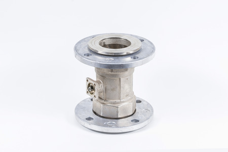 cease: Valve flange on a white background