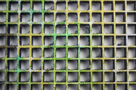 molded: plastic mesh texture