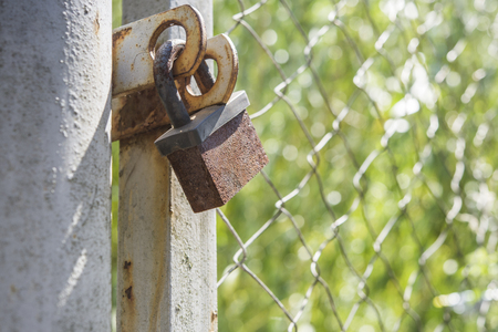 private access: Lock on the fence