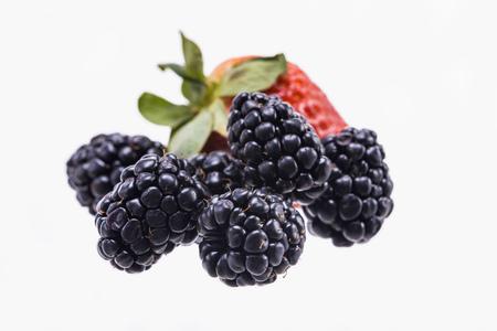 Blackberry and Strawberry Fruit 写真素材